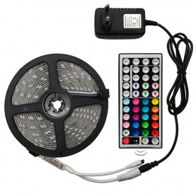Ruban Led RGB - Kit Complet - 12v 5050 IP65 60LED/M
