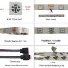 Ruban Led RGB - Kit Complet - 12v 5050 IP65 60LED/M
