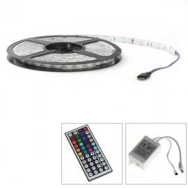 Ruban LED RGB Professionnel 5 Mètres - 30LED/M - 5050 - IP65
