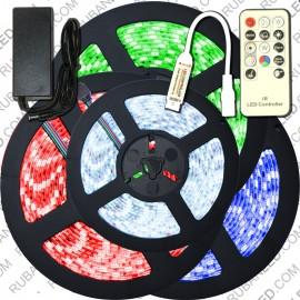 Kit Ruban LED Professionnel 5M RGB avec Télécommande RF