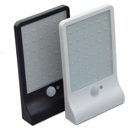 Applique Murale Capteur de Mouvement PIR Solaire avec Lumière LED