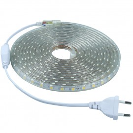 Ruban LED Professionnel - 5050 - 10 Mètres - 220V - IP67 - 60LED/Mètre