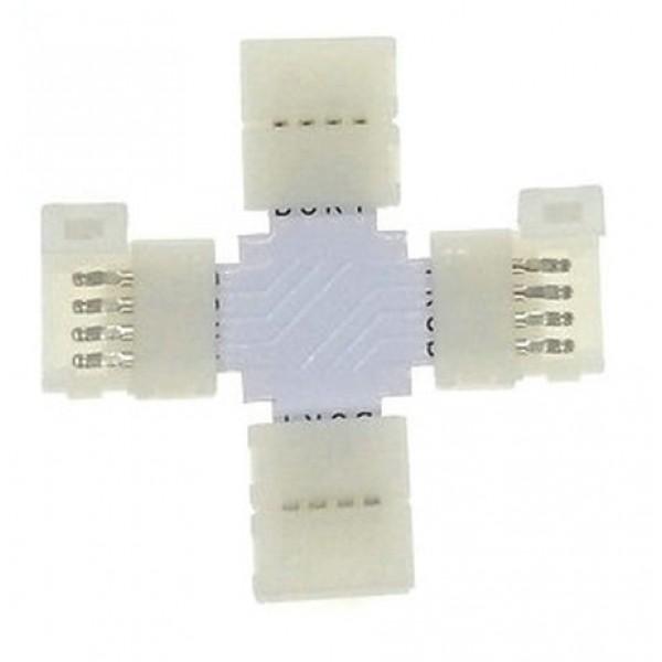 5 Connecteur X entre Rubans-Rallonges LED 5050 IP20