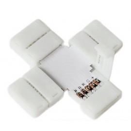 5 Connecteur X entre Rubans-Rallonges LED 5050 RGB+Blanc