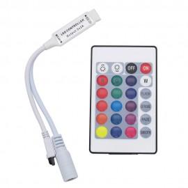 Contrôleur et Télécommande 24 Touches  24V pour Ruban LED RGB IP68