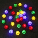 Chaîne de Lanternes Chinoises Solaires LED Imperméables