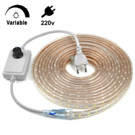 Ruban LED 220V Intensité Variable IP67 - 60LED/M Commercial