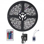 Ruban LED Étanche 5M 3528 RGB Multicolore 300 LED - Kit Complet