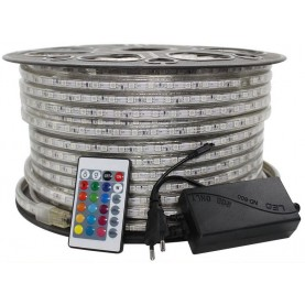Ruban led Professionnel 220V - Kit Complet - RGB 5050  IP67 60LED/M
