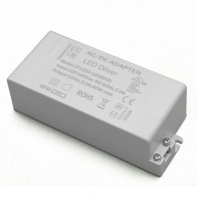 Transformateur à Bornier pour Ruban LED 60W/5A/12V