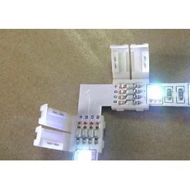 5 Connecteur Plat L pour Rubans LED 5050