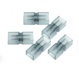 10 Connecteurs Entre Ruban LED 5050 Unicolore 220V IP68