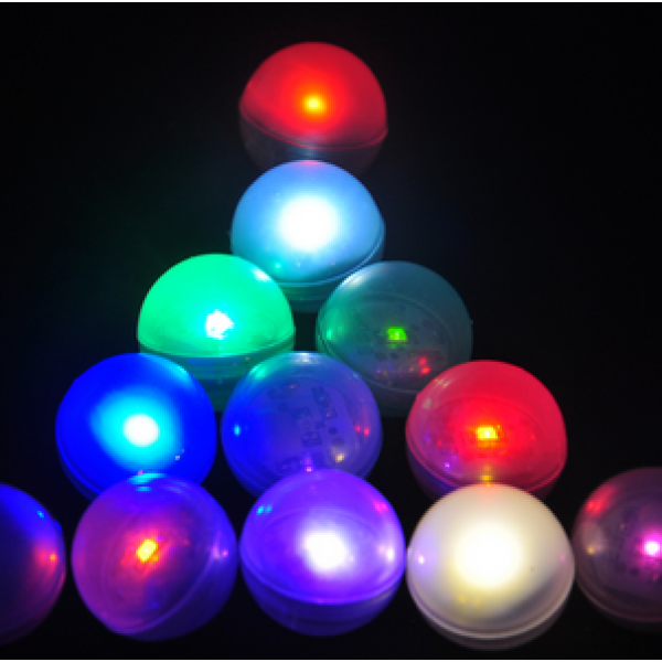 Mini Balle LED Flottante - Lot de 12