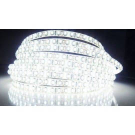 Ruban LED Flexible 120LED/M 3528 - IP 65 de 5M Blanc Pur