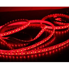 Ruban LED Professionnel Flexible 120LED/M 3528 - IP 65 de 5M Rouge
