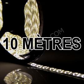 Ruban LED 10 Mètres - 60LED/M - 3528 Blanc Chaud - IP65