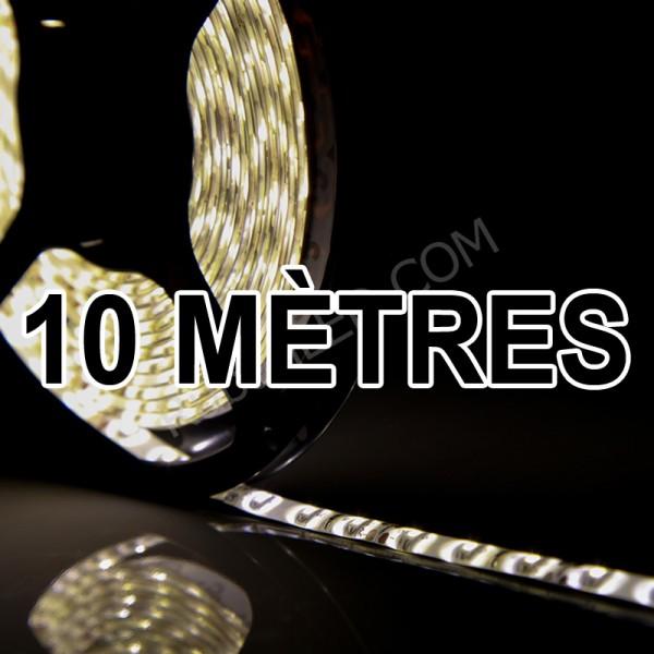 Ruban LED Professionnel 10 Mètres - 60LED/M - 3528 Blanc Chaud - IP65