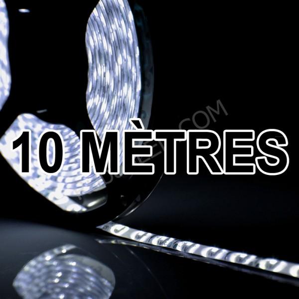 Ruban LED 10 Mètres - 60LED/M - 3528 Blanc Froid - IP65