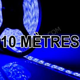 Ruban LED 10 Mètres - 60LED/M - 3528 Bleu - IP65