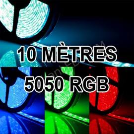 Ruban LED Professionnel 10 Mètres - 60LED/M - 5050 RGB - IP65