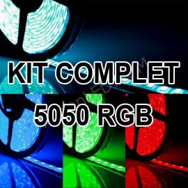 Kit Complet Ruban LED 12v 5050 IP65 60LED/M