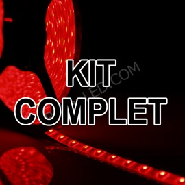 Kit Complet = Ruban LED Commercial - 60LED/M - 5630 Rouge - IP65