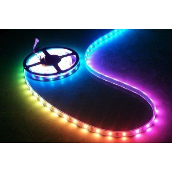 Ruban LED Professionnel Arc-en-Ciel - IP65 - Type 5050 - 60LED/m - RGB