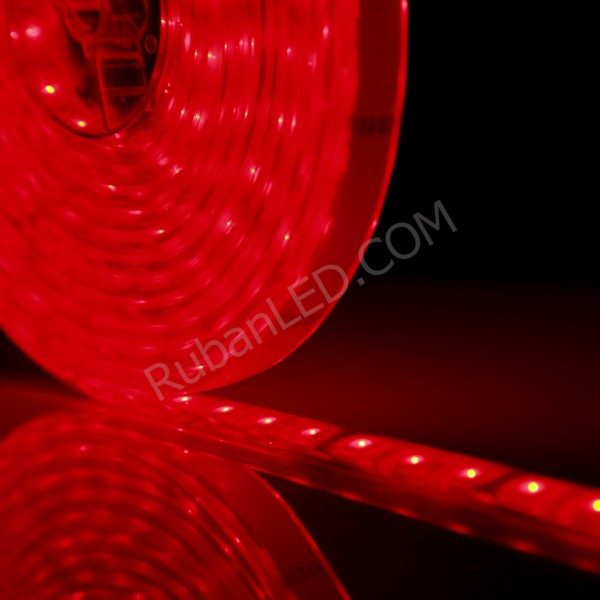 Ruban LED Submersible Rouge - 5 Mètres IP68 - 60LED/M - 5050