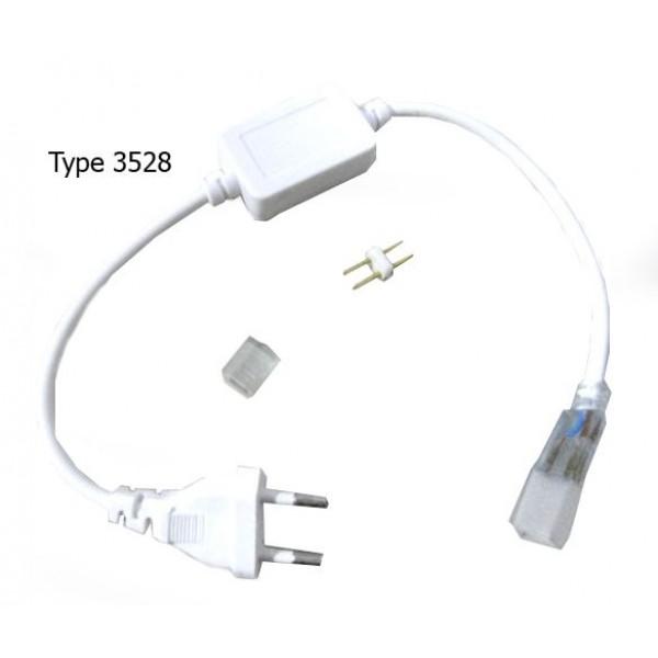 Connecteur avec Transformateur Électronique entre Ruban 3528 IP67 et 220V