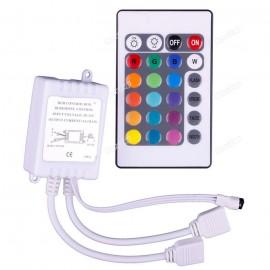 Contrôleur et Télécommande 24 Touches pour Ruban LED RGB 5050