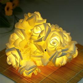 Guirlande de Fleurs Lumineuses Décoratives en Forme de Rose avec Lampes LED