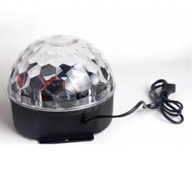 Boule Magique avec Effet Lumineux Cristal Rotatif Multicolore