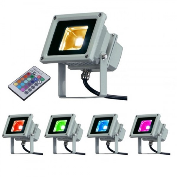 Projecteur LED Extérieur - RGB - Multicolore -10W